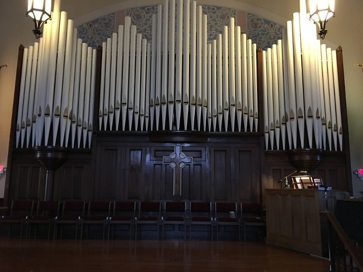 Organ Pipes at the First Presbyterian Organ - I don't know if they were functional or facade only
